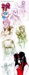 Latest Sketchdump - girls girls girls by VeeHeathArt
