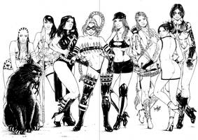 TeamUp Girls Commission by leonartgondim