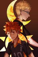 The Sun and The Moon by kahmurio