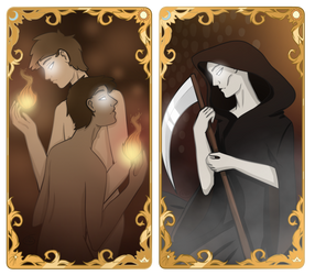 Tarot Cards: The Lovers and Death by JETFPLOVE