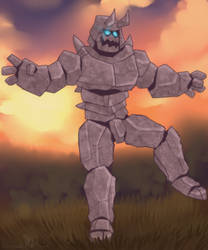 Golem Boi by burntbeebs