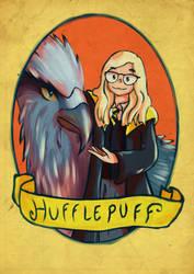 Commission: Sav as Hufflepuff student by Kanimir