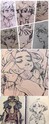 Sketch dump by Tamaytka