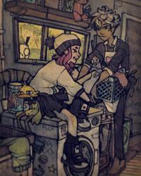Laundry Day by Tamaytka