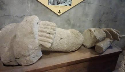 Brock Statue - Original Arm by ironicgiant