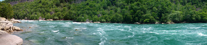 Niagara River Panorama by ironicgiant