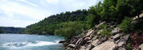 Niagara River Shoreline Panorama by ironicgiant