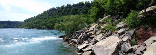River Shore Panorama by ironicgiant