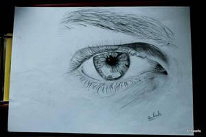 Man's eye by Anbeads