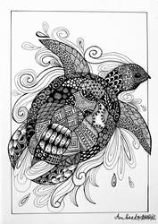 Zentangle turtle by Anbeads