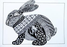 Rabbit Zentangle by Anbeads