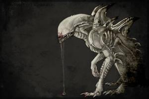 Albino Xenomorph by Khanashi