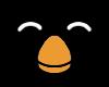 Penguin button by LinuxBird
