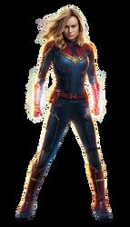 Captain Marvel - Transparent by Asthonx1