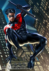 Nightwing by JUNAIDI