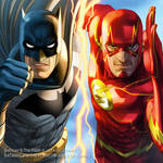 Batman and The Flash by JUNAIDI