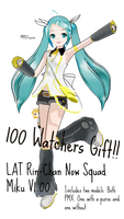 100 Watchers Gift! LAT Rin-Chan Now Squad Miku DL! by MMDCousins