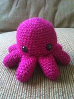 Magenta Octopus by tape-artist