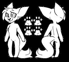 {ftu} chibi anthro cat base by prvde