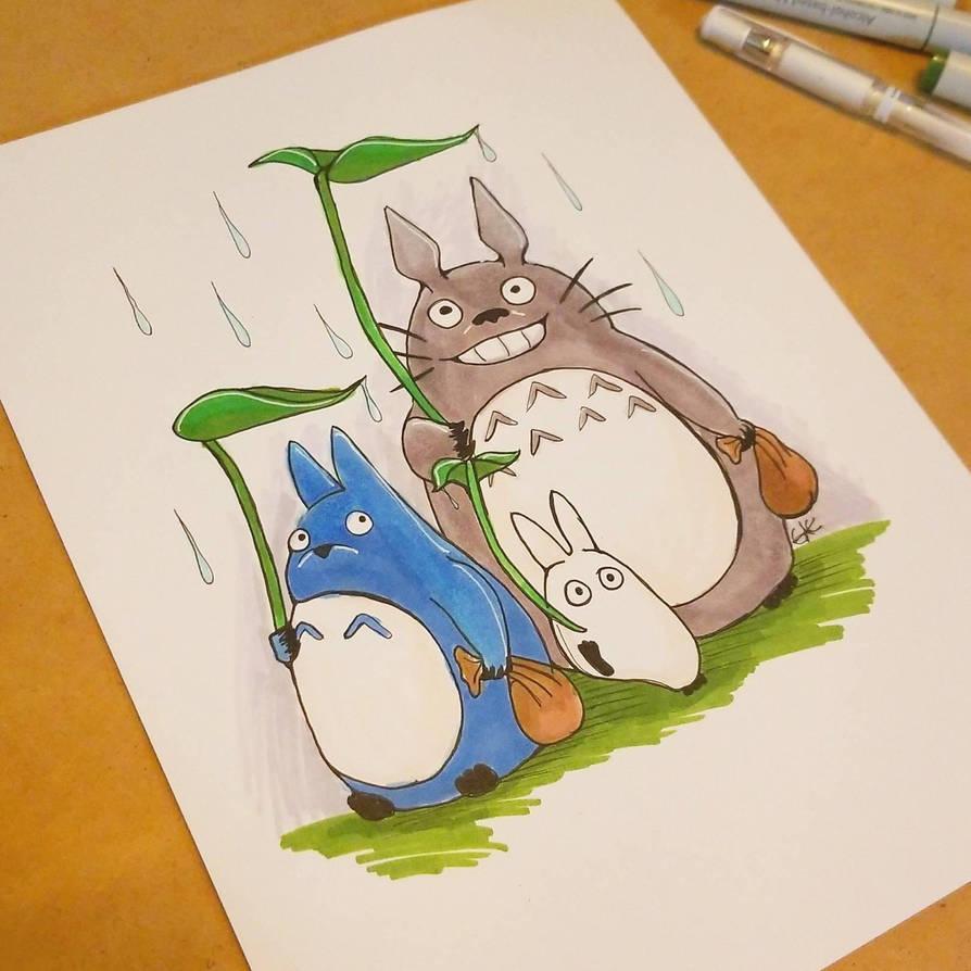 Totoro by ravens-hearth