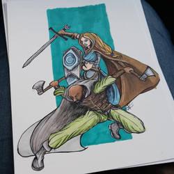 Reinya and Wulfram  by ravens-hearth