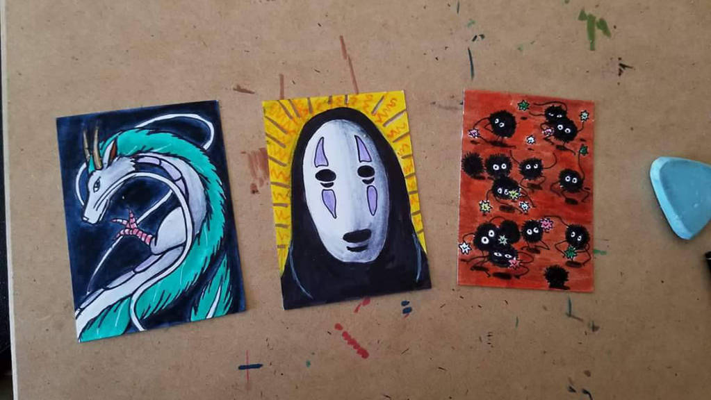 Spirited Away Art Cards by ravens-hearth
