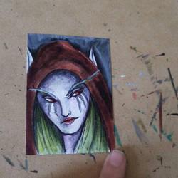 Sylvanas Art Card by ravens-hearth