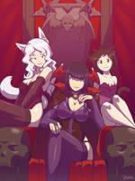 Vampire and Cat Girls by Blazbaros