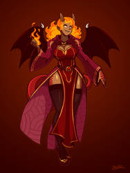 Ifrit Dragonblood Sorcereress by Blazbaros