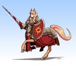 Centauress Knight by Blazbaros