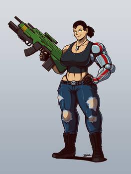 Big Gun Girl by Blazbaros