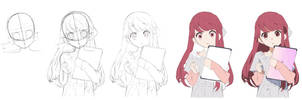 Shelter - Rin Drawing process by PoLoBreak
