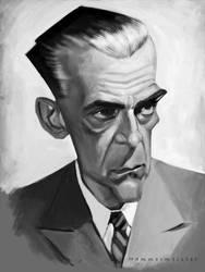 Boris Karloff Sketch by markdraws