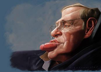 Professor Stephen Hawking by markdraws