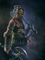 Barbarian diablo III reaper-of souls fanart by Perseass