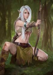 Elven Study2 by Perseass