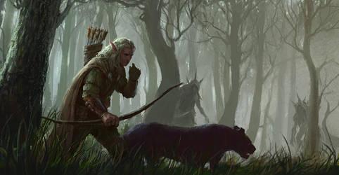 Elven Hunter by Perseass