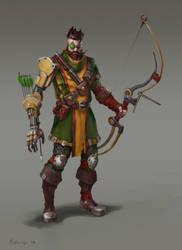 sci fi archer by Perseass