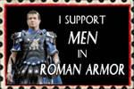 Stamp men in roman armor by Nefermeritaset