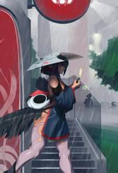 Rainy Walk by MShadowy