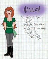 Rough webcomic design - Hannah by theidandthesuperego