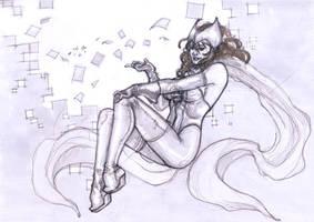 Raw Sketch : Scarlet Witch by ThomasBlakeArtist