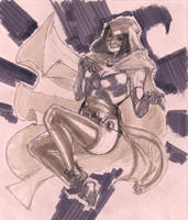 Raw Sketch : Raven by ThomasBlakeArtist