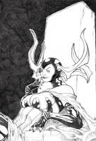 Hela, godess of death by ThomasBlakeArtist