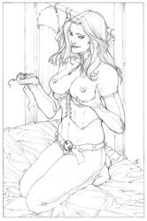 Commission : Kinky Emma Frost by ThomasBlakeArtist