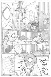 Amazing Spider-Man Page 3 - Pencil by ThomasBlakeArtist