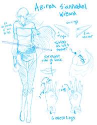 Azirah Siannodel- DnD 3.5e concept sketch by anime-freak-trish