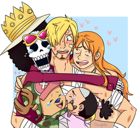 Spiral Pirates group hug by SaucyNadles