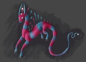 Bubble gum dragon by Edrakan