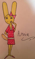Annie wearing a spotty dress. by HaroldCheese